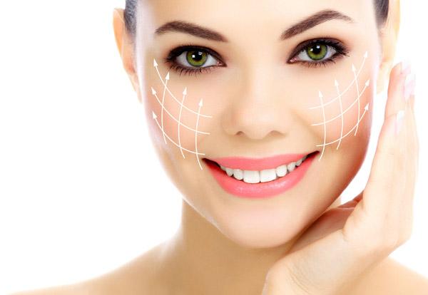 Cheerful female with fresh clear skin
