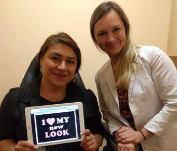 Anya Stassiy with another Happy Patient at Khrom Dermatology & Aesthetics