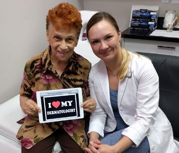 Anya Stassiy with Happy Patient at Khrom Dermatology & Aesthetics