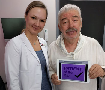Anya Stassiy with a Happy Patient at Khrom Dermatology & Aesthetics