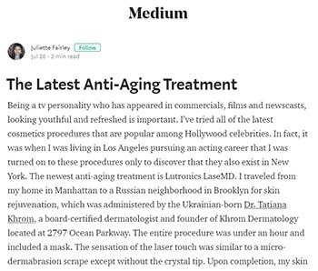 Latest Anti Aging Tratment